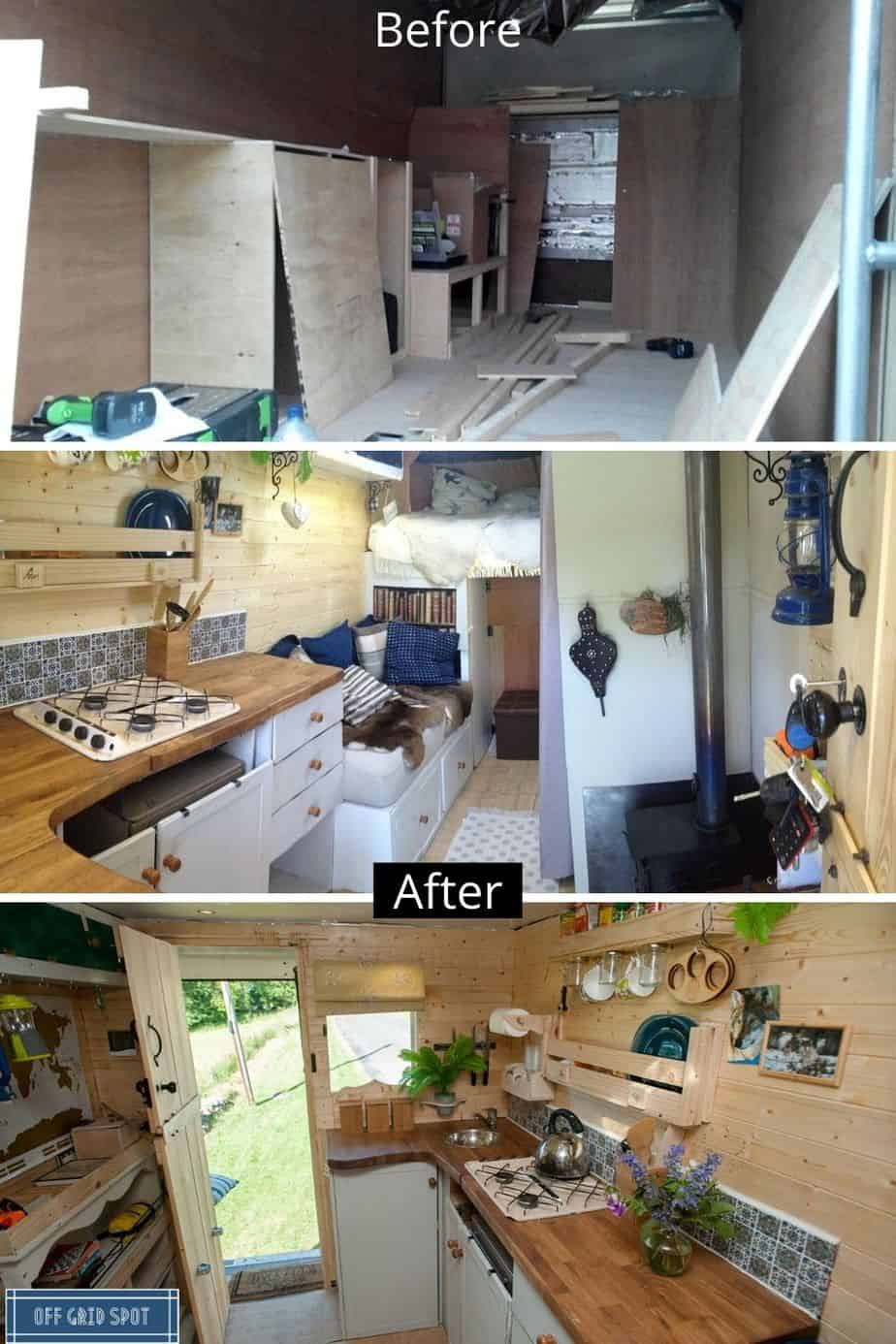 Box Van Conversion Before / After