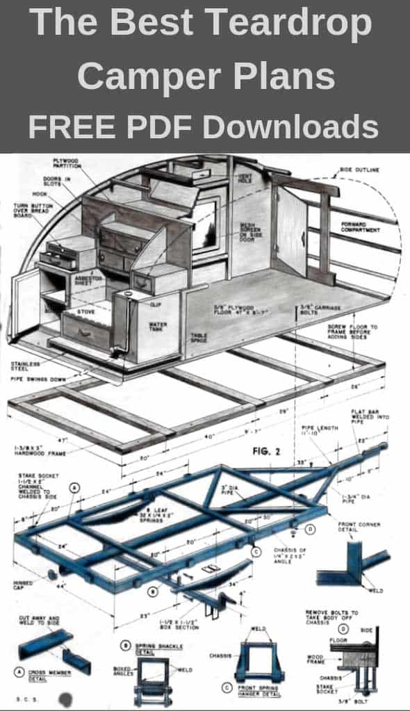 teardrop camper plans – 11 free diy trailer designs (pdf downloads) » rv &  camping guides & reviews  off grid spot