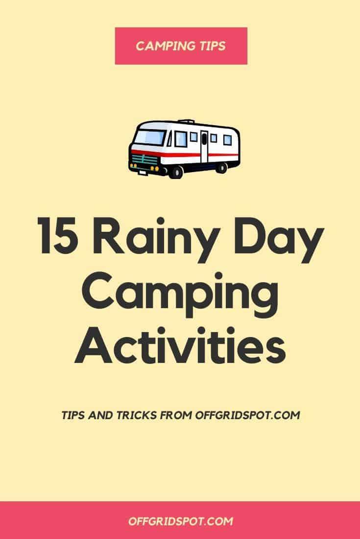 RV Activities for Rainy Days