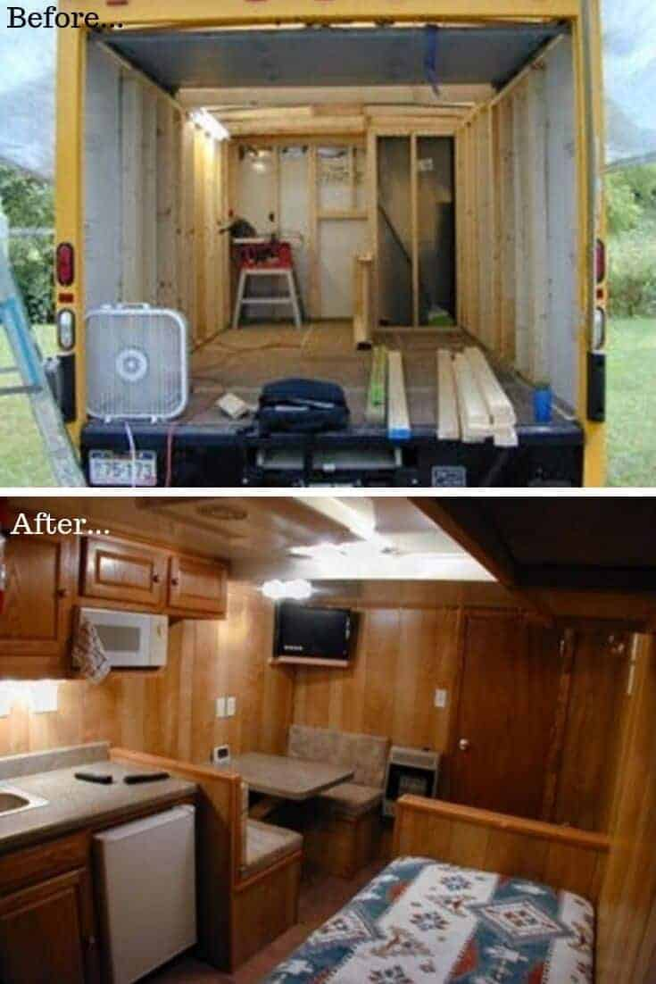 Box Truck Conversion Before After