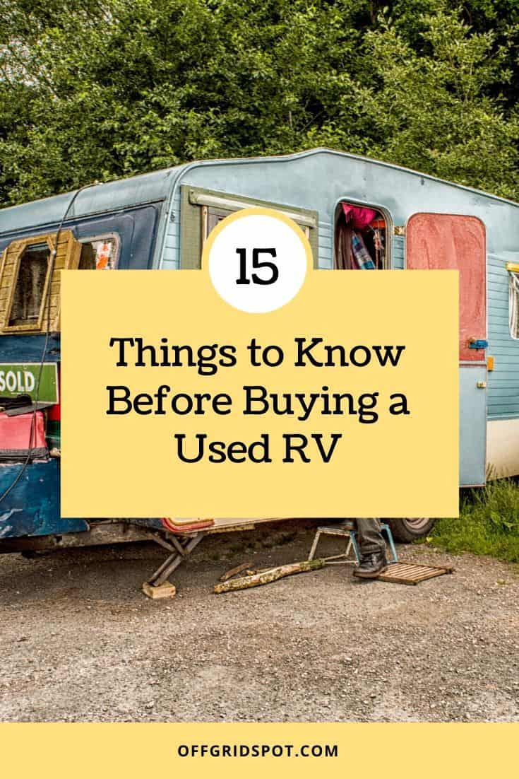 Used RV Buying Tips