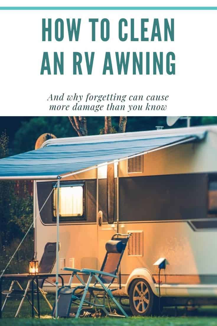 Clean and RV awning