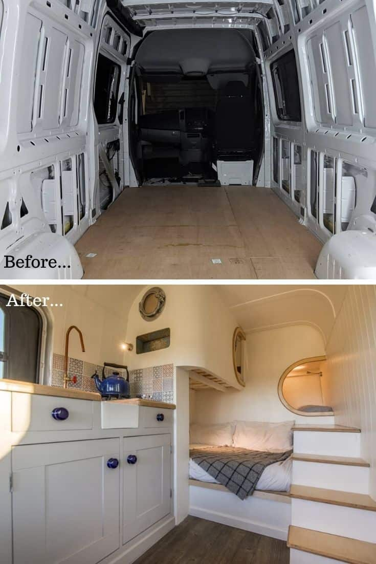 Before & After Sprinter Conversion
