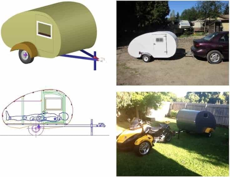 The Pico-Light (Suitable as a Motorcycle Teardrop Camper)