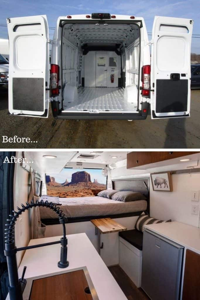 Promaster Van Conversion Before & After
