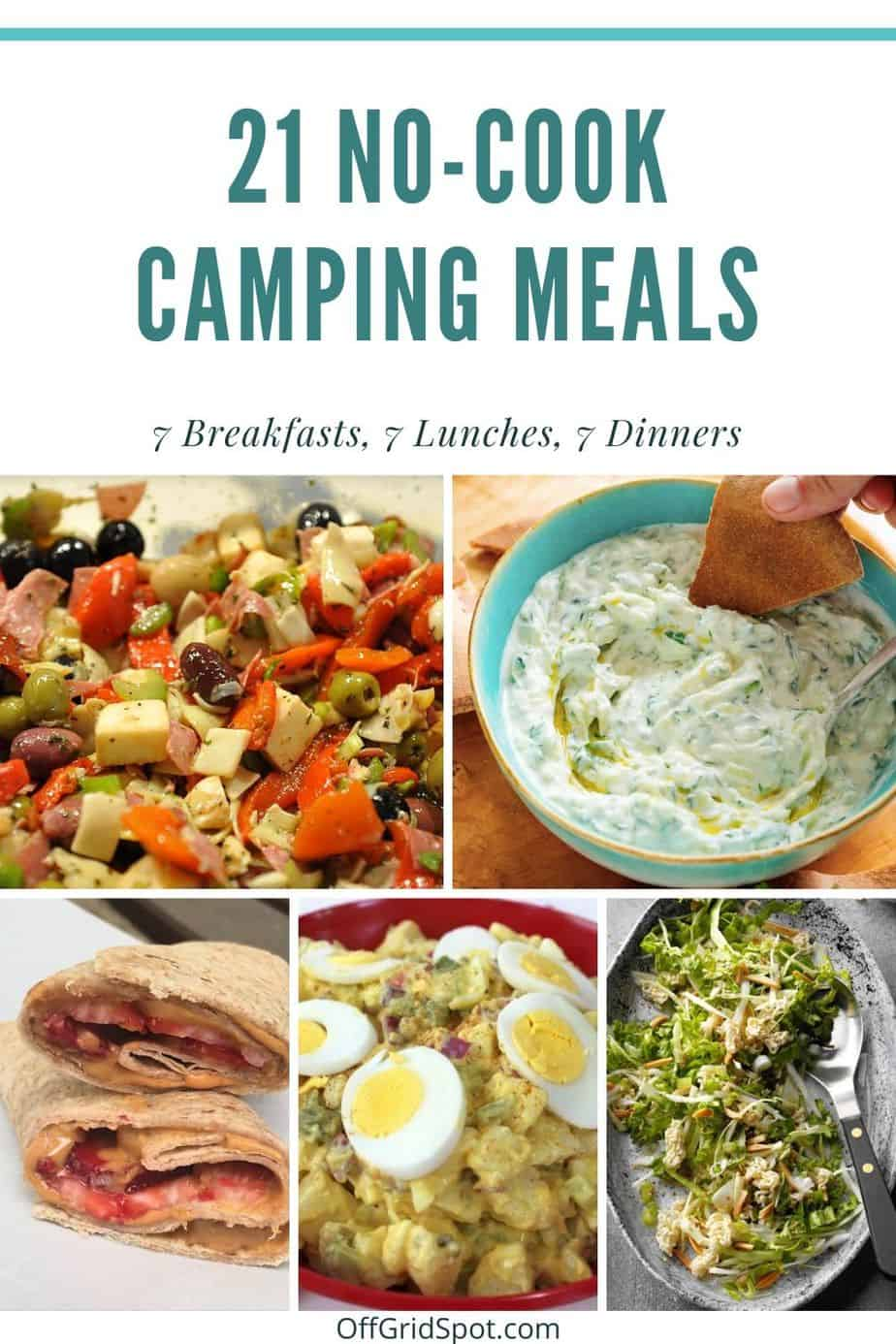 21 No-cook Camping Meals