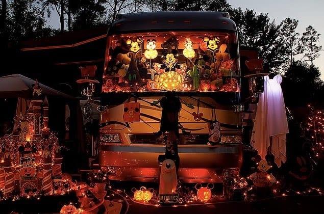 Disney style RV Halloween decorations