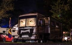 RV Halloween decorations