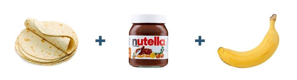 Tortilla + Nutella + Banana