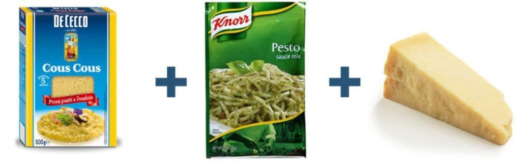 Couscous + Pesto + Parmesan