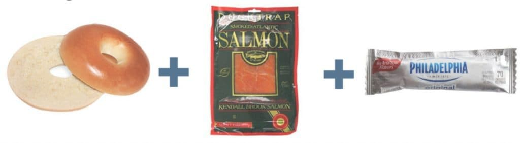 Bagel + Salmon + Cream Cheese