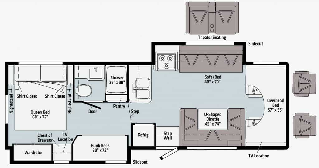 Winnebago Minnie Winnie 31H - Floorplan