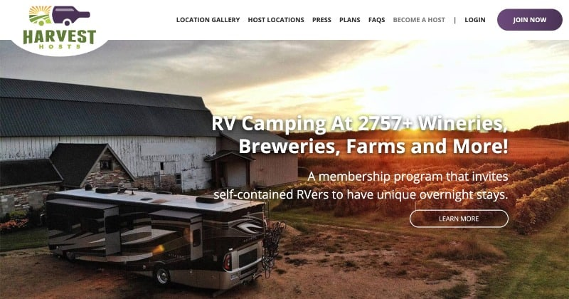 Harvest Hosts - Best RV Memberships